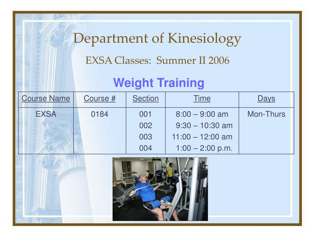 department of kinesiology l.