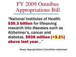fy 2009 omnibus appropriations bill