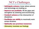 nci s challenges