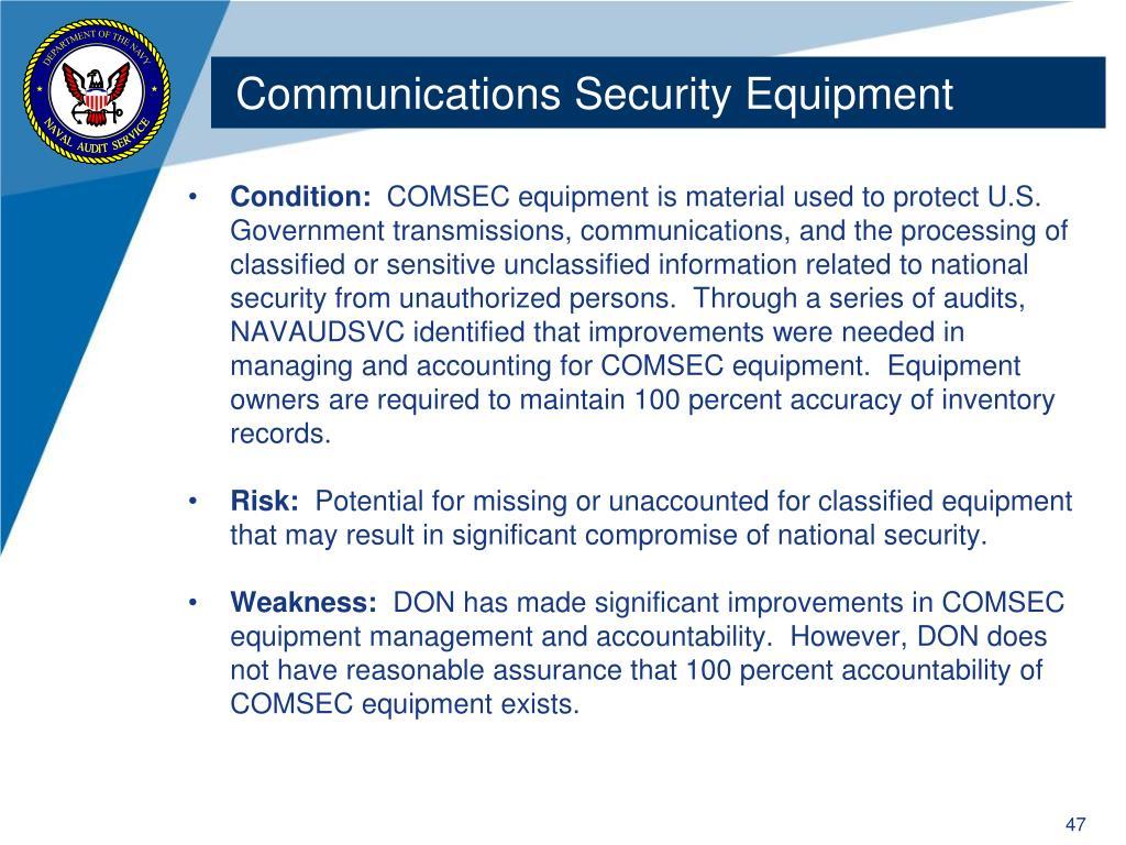 Communications Security Equipment