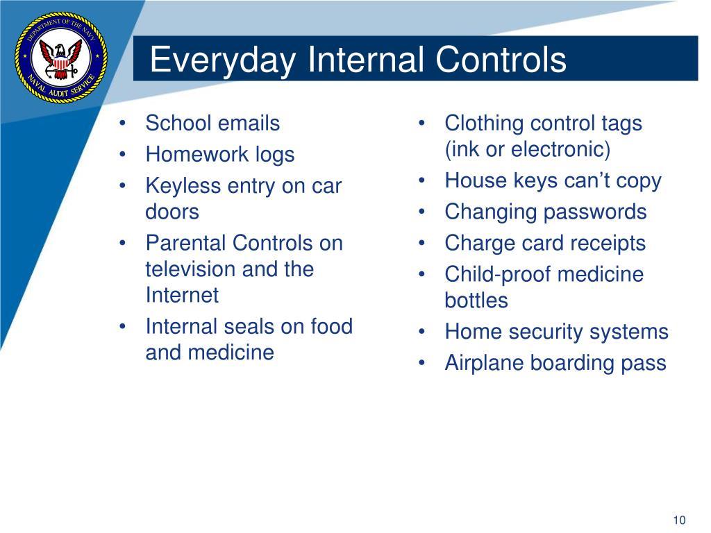 Everyday Internal Controls