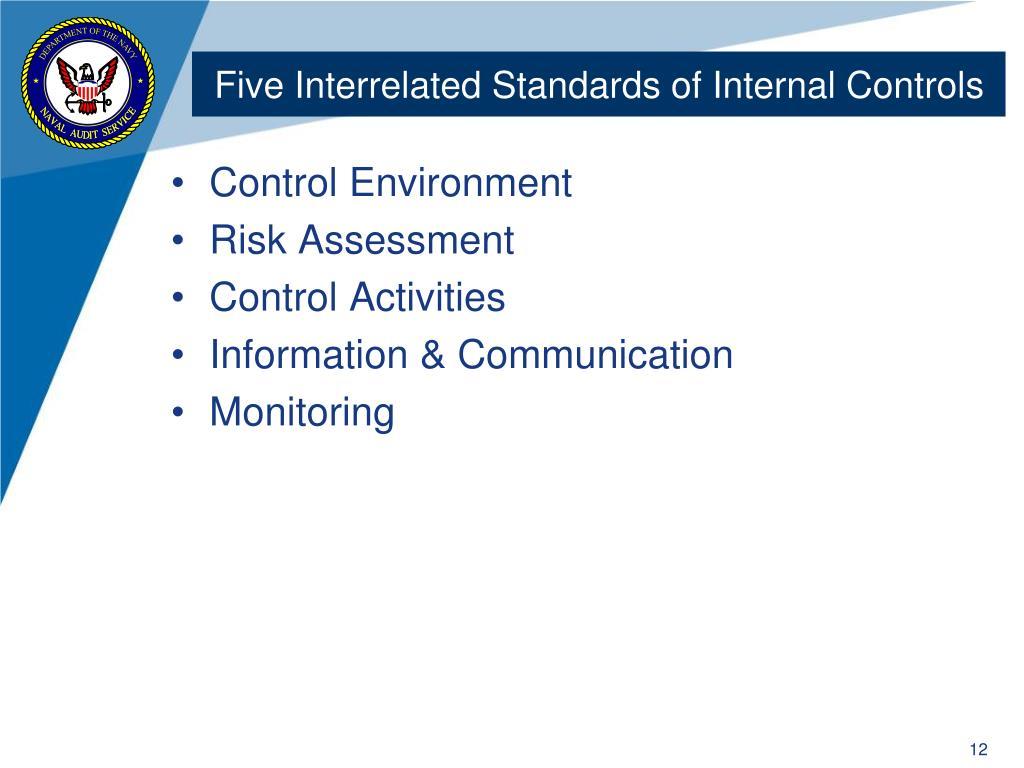 Five Interrelated Standards of Internal Controls