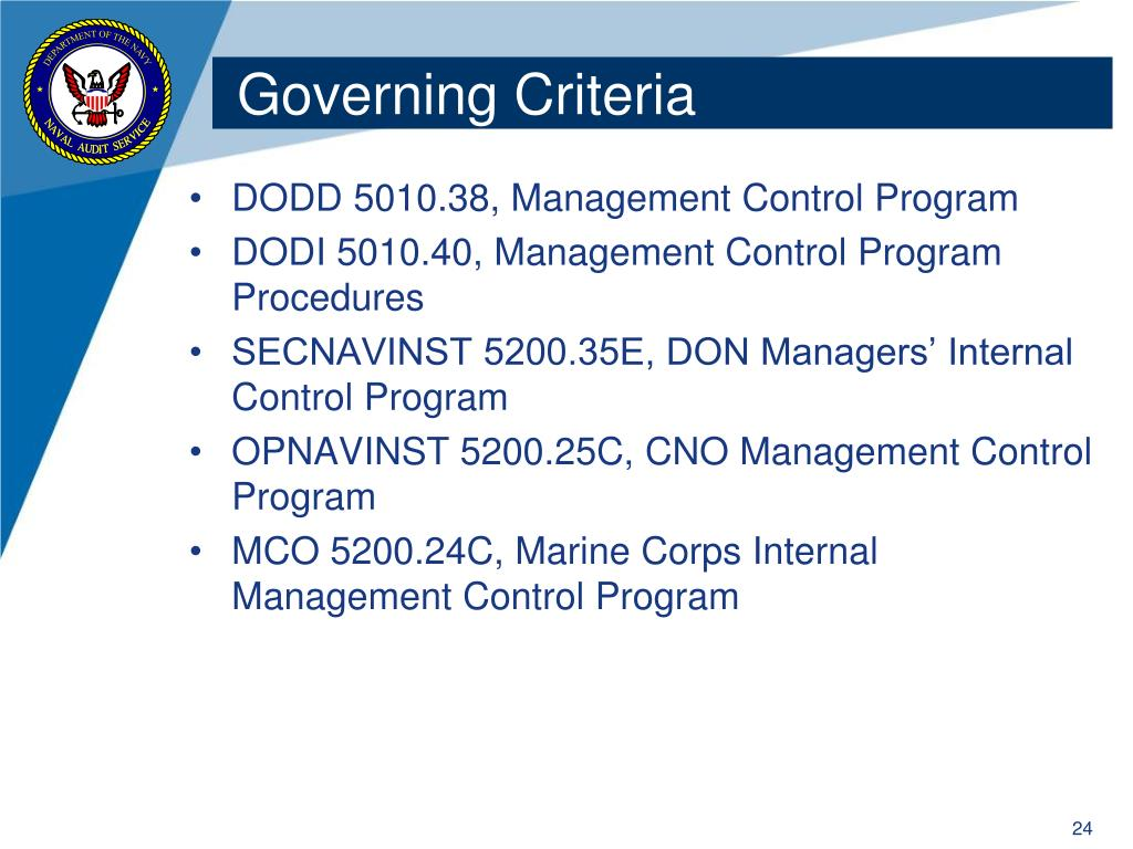Governing Criteria