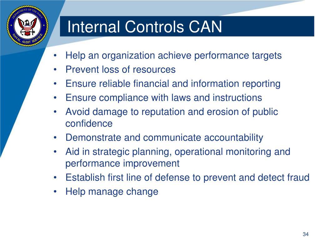 Internal Controls CAN