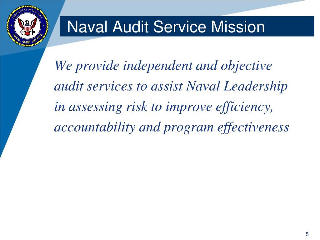 Naval Audit Service Mission
