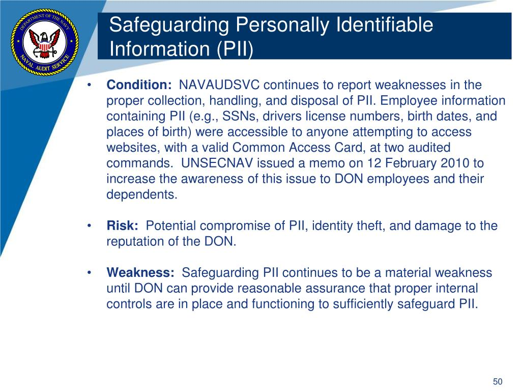Safeguarding Personally Identifiable Information (PII)