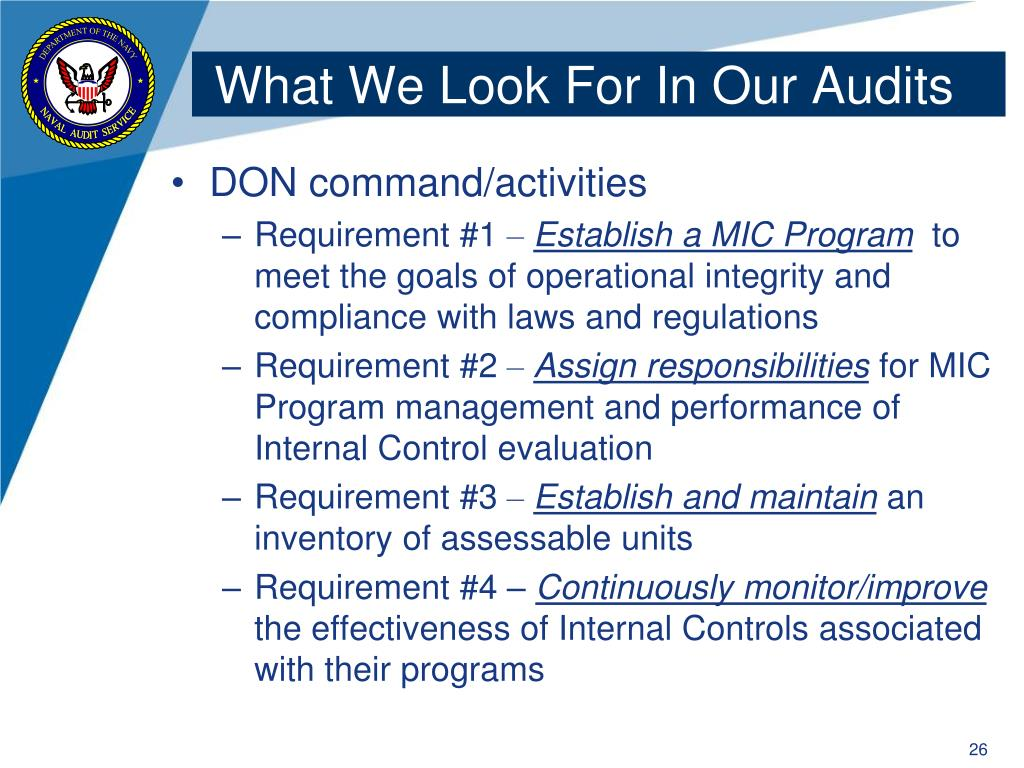 What We Look For In Our Audits