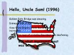 hello uncle sam 1996