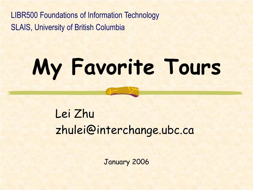 my favorite tours l.