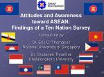 attitudes and awareness toward asean findings of a ten nation survey24