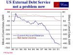 us external debt service not a problem now