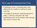 basic logic of purchasing power parity37