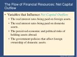the flow of financial resources net capital outflow14