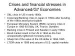 crises and financial stresses in advanced g7 economies