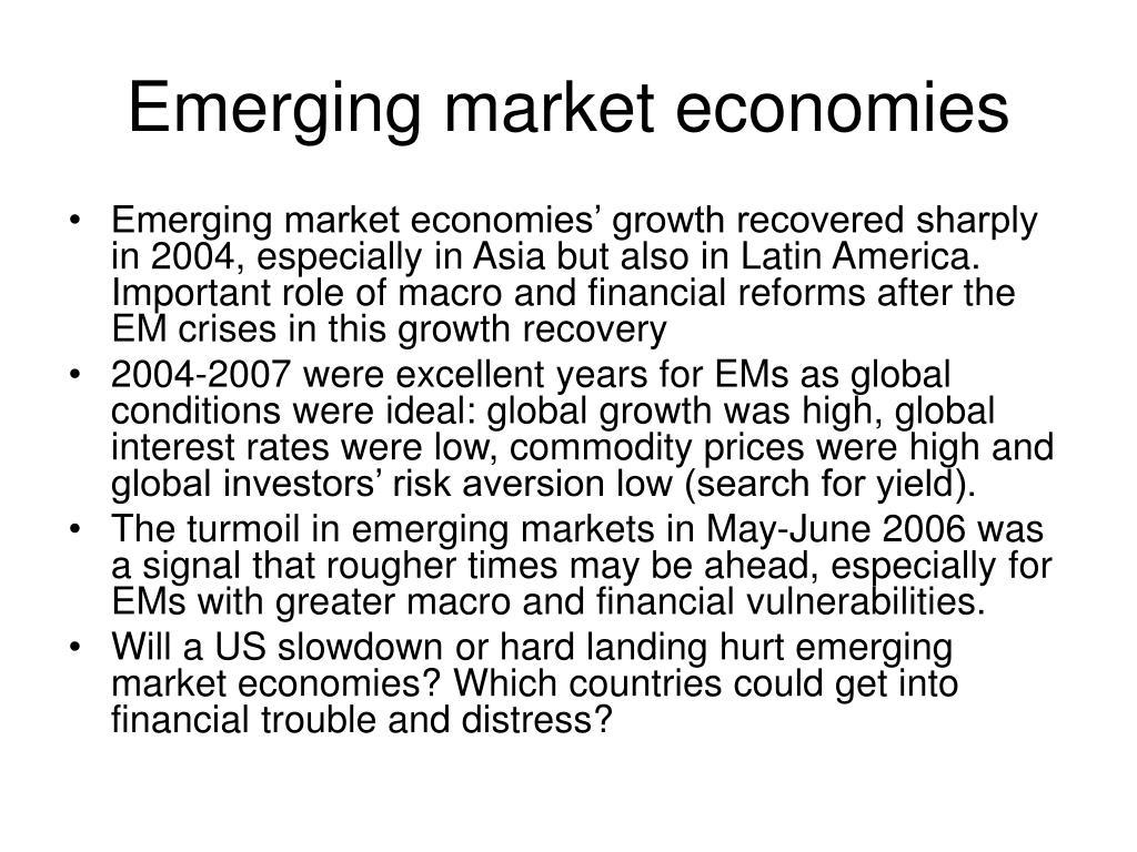 Emerging market economies