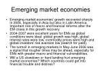 emerging market economies11