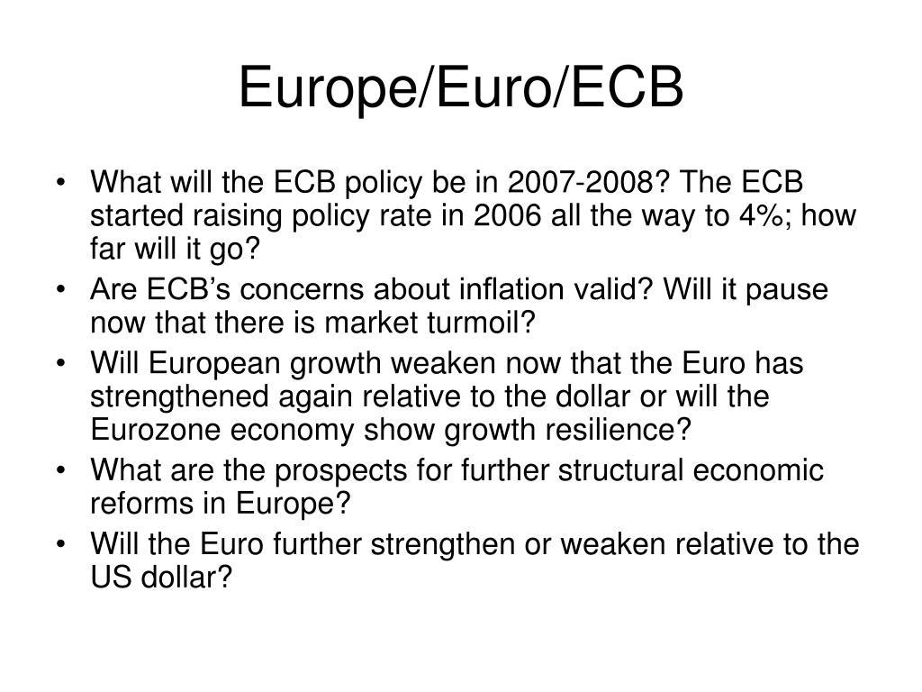 Europe/Euro/ECB