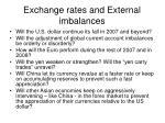 exchange rates and external imbalances7