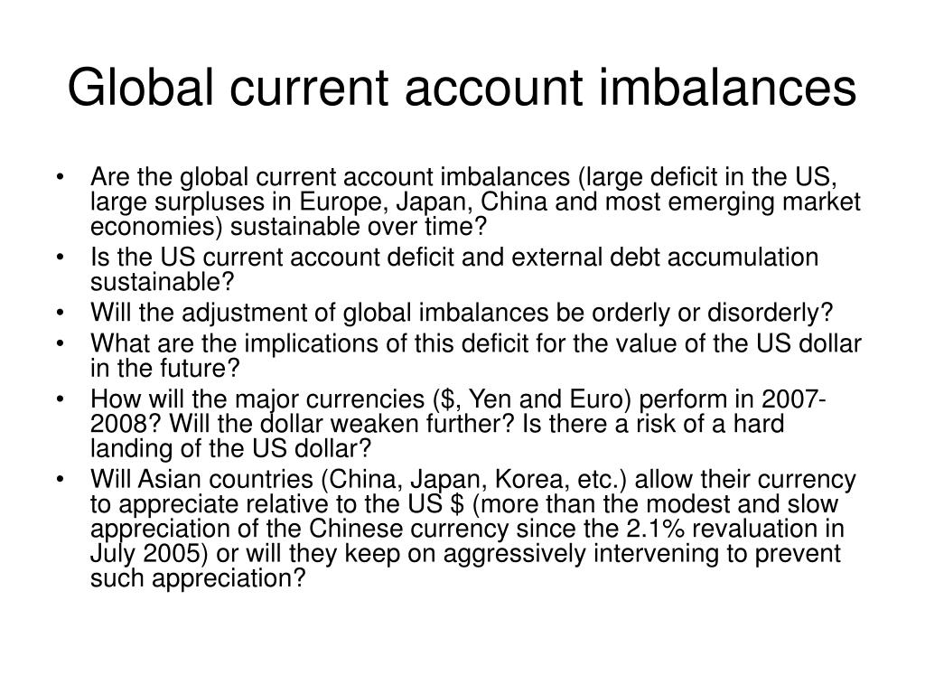 Global current account imbalances