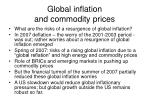 global inflation and commodity prices