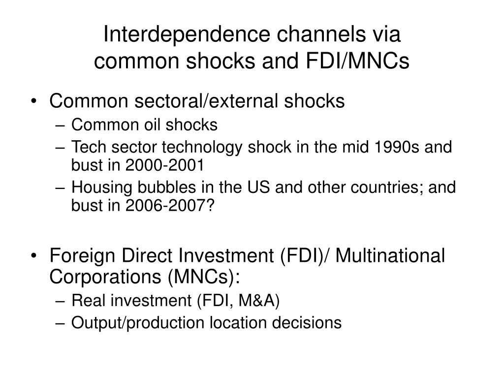 Interdependence channels via