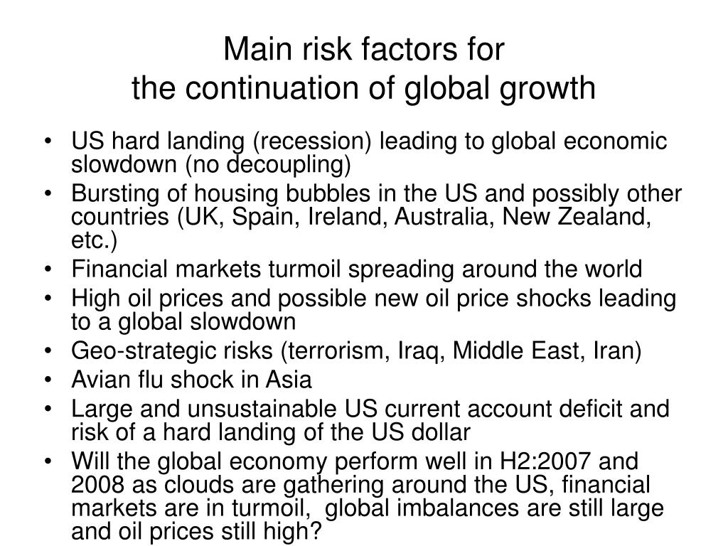 Main risk factors for