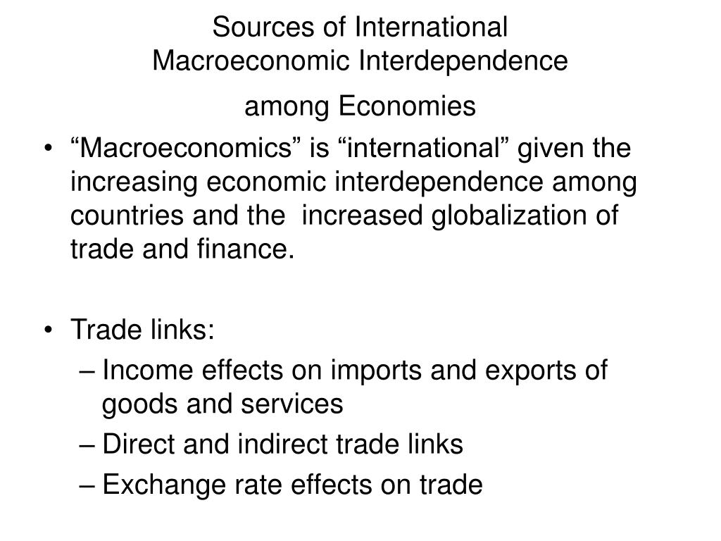 Sources of International
