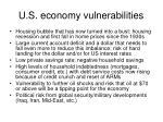 u s economy vulnerabilities