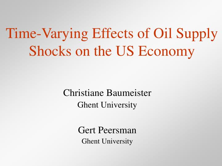 Time varying effects of oil supply shocks on the us economy