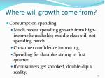 where will growth come from