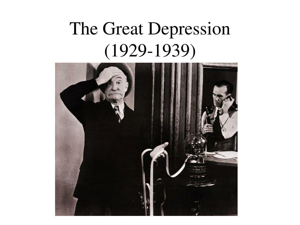 the great depression 1929 1939 l.
