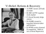 v relief reform recovery