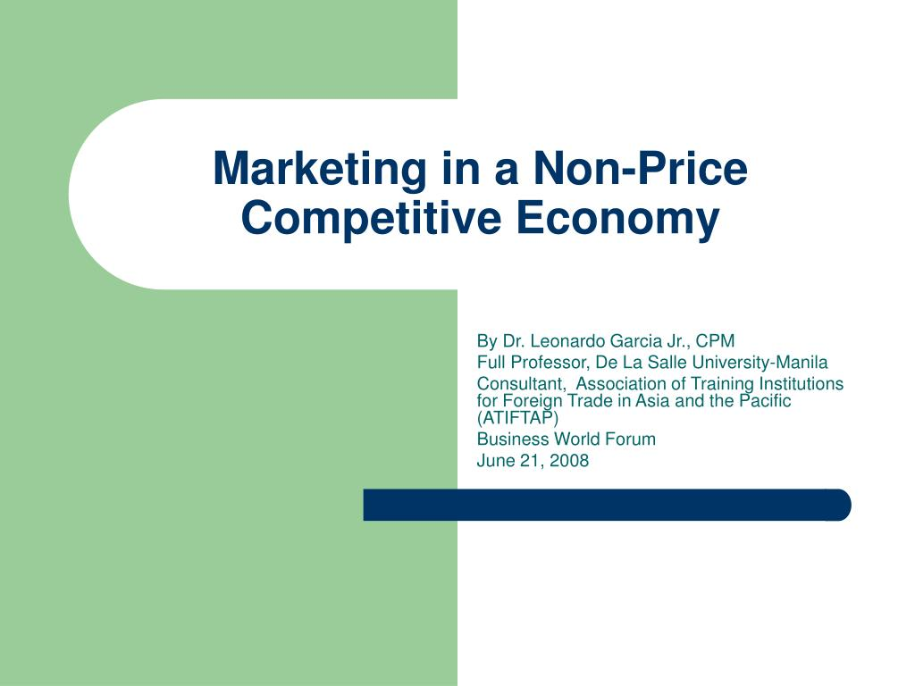 marketing in a non price competitive economy l.