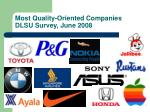 most quality oriented companies dlsu survey june 2008