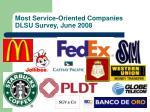 most service oriented companies dlsu survey june 2008
