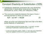 constant elasticity of substitution ces