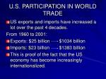 u s participation in world trade