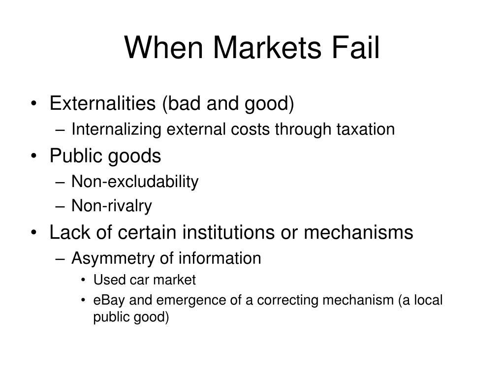 When Markets Fail