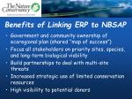 benefits of linking erp to nbsap