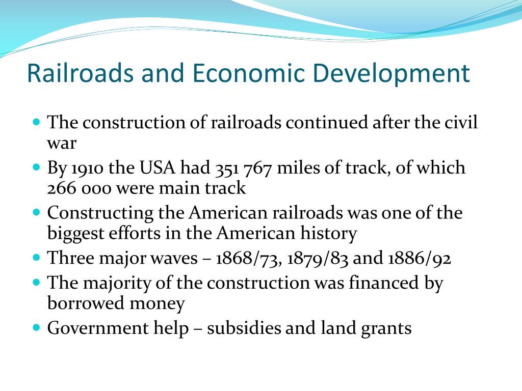 Railroads and Economic Development
