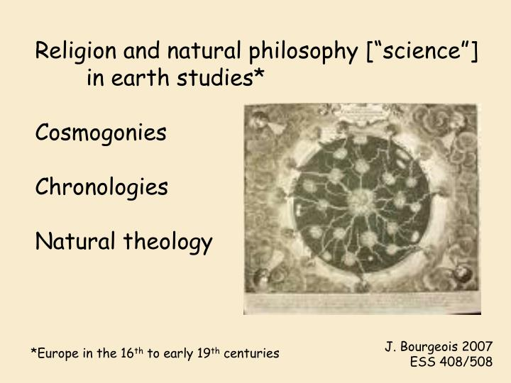 "Religion and natural philosophy [""science""]"