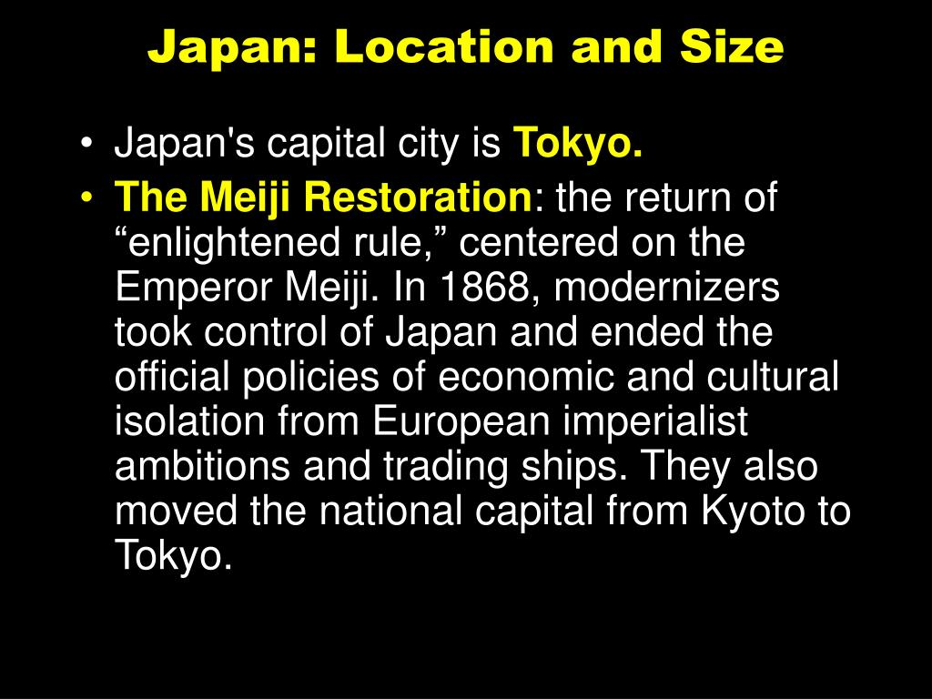Japan: Location and Size