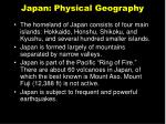 japan physical geography
