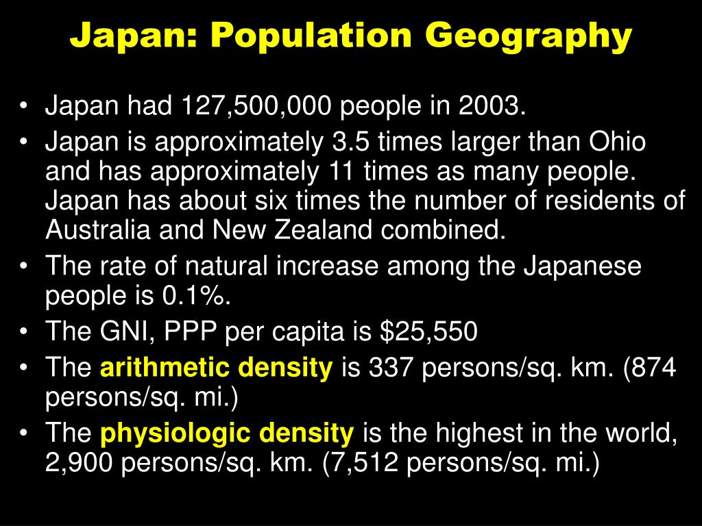 Japan: Population Geography