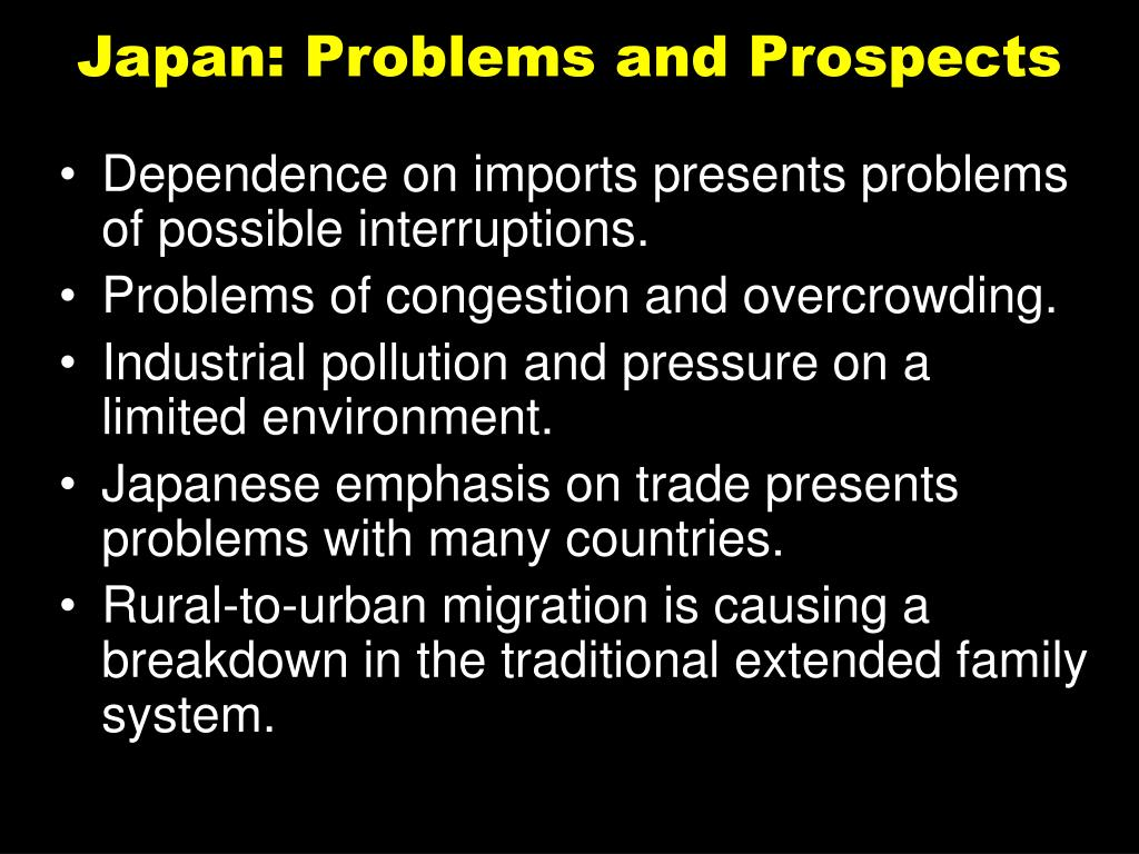 Japan: Problems and Prospects