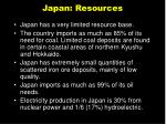 japan resources