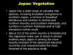 japan vegetation