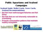 public aquariums and seafood campaigns