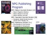npg publishing program