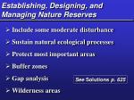 establishing designing and managing nature reserves